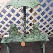 Cat and Frog Garden Bench $139.99